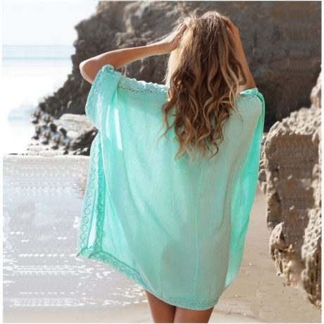 Loose Sun Shirt Cover Blue Back