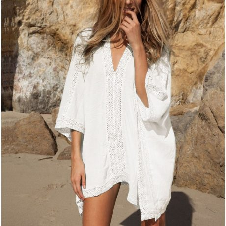 Loose Sun Shirt Cover off White