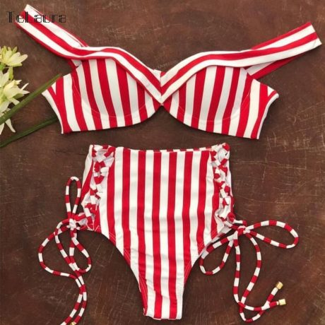 Sexy High Waist Bikini, 2019 Women's Swimsuit, Bandeau Bikinis Set, Biquini Swimming Suit 3