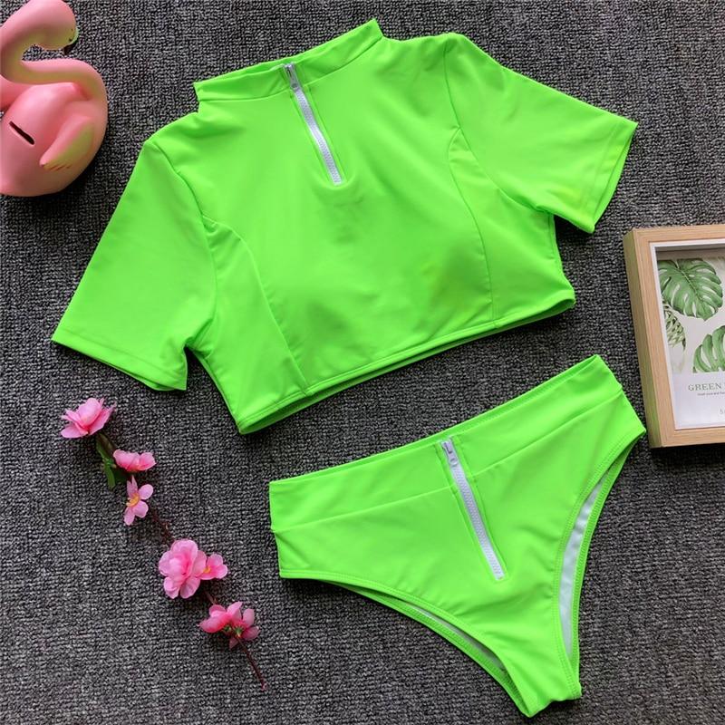 Women's Brazilian Thong Bikini, 2019 Women's T-Shirt Swimsuit, Push up, Two-Piece Suit 47