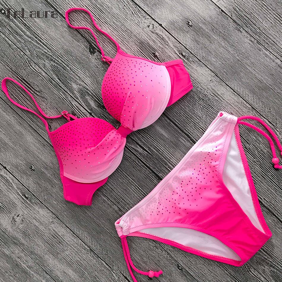 2019 Sexy Bikini Swimwear, Women's Swimsuit Push Up, Gradient Bikinis, Biquini Swimsuit 17