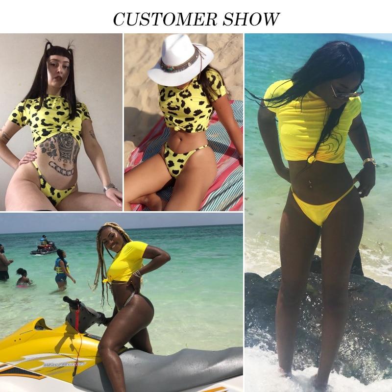Women's Brazilian Thong Bikini, 2019 Women's T-Shirt Swimsuit, Push up, Two-Piece Suit 5