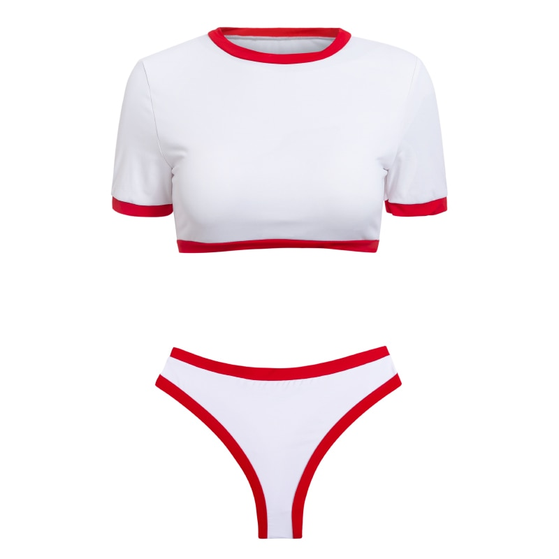 Women's Brazilian Thong Bikini, 2019 Women's T-Shirt Swimsuit, Push up, Two-Piece Suit 31