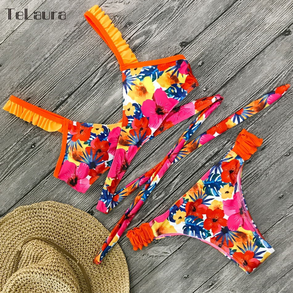 2019 New Sexy Bikini Swimwear, Women's Floral Brazilian Bikini, Biquinis Summer Beach Wear 20
