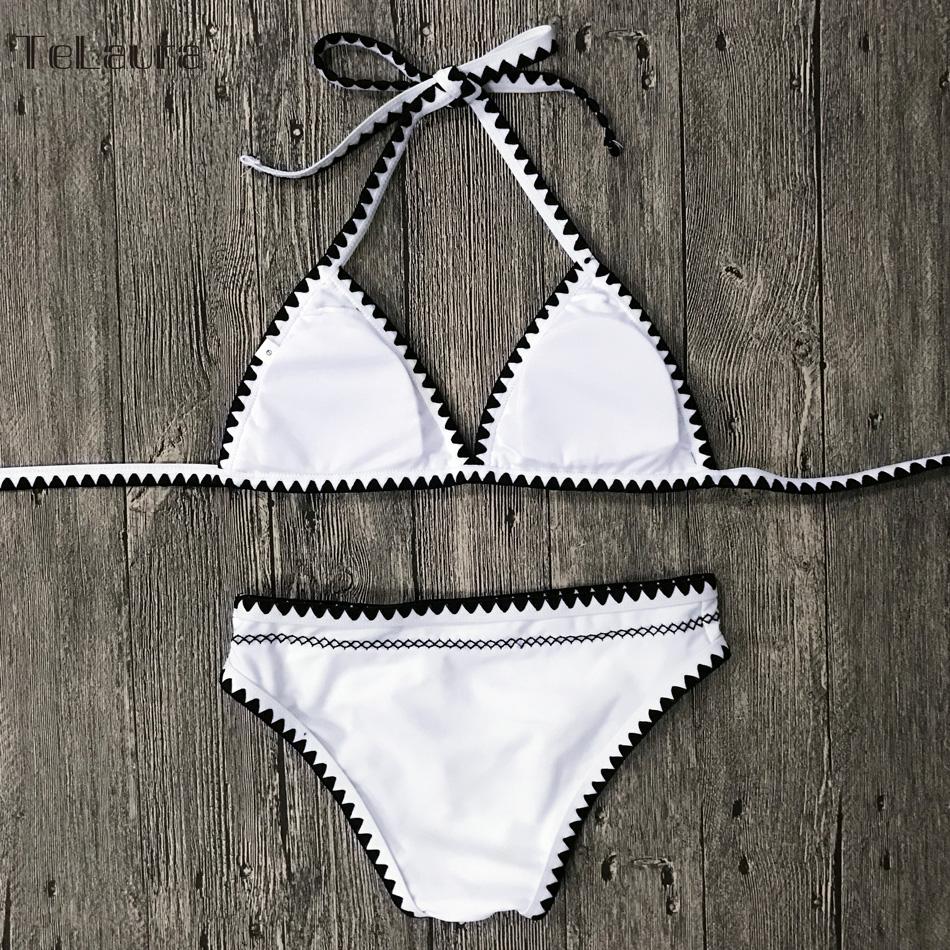 Sexy Bikinis, Women's Swimwear Push Up Swimsuit, Halter Top, Biquini Padded Bathing Suit, Brazilian Bikini Set 17