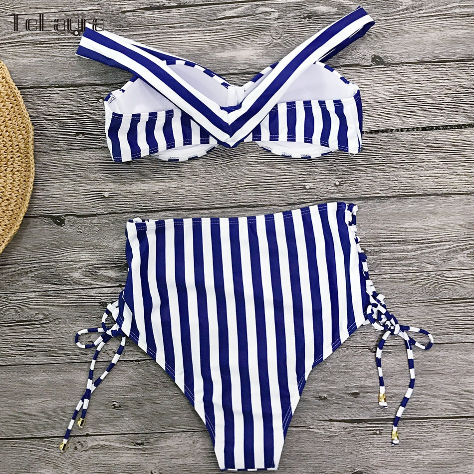 Sexy High Waist Bikini, 2019 Women's Swimsuit, Bandeau Bikinis Set, Biquini Swimming Suit 19