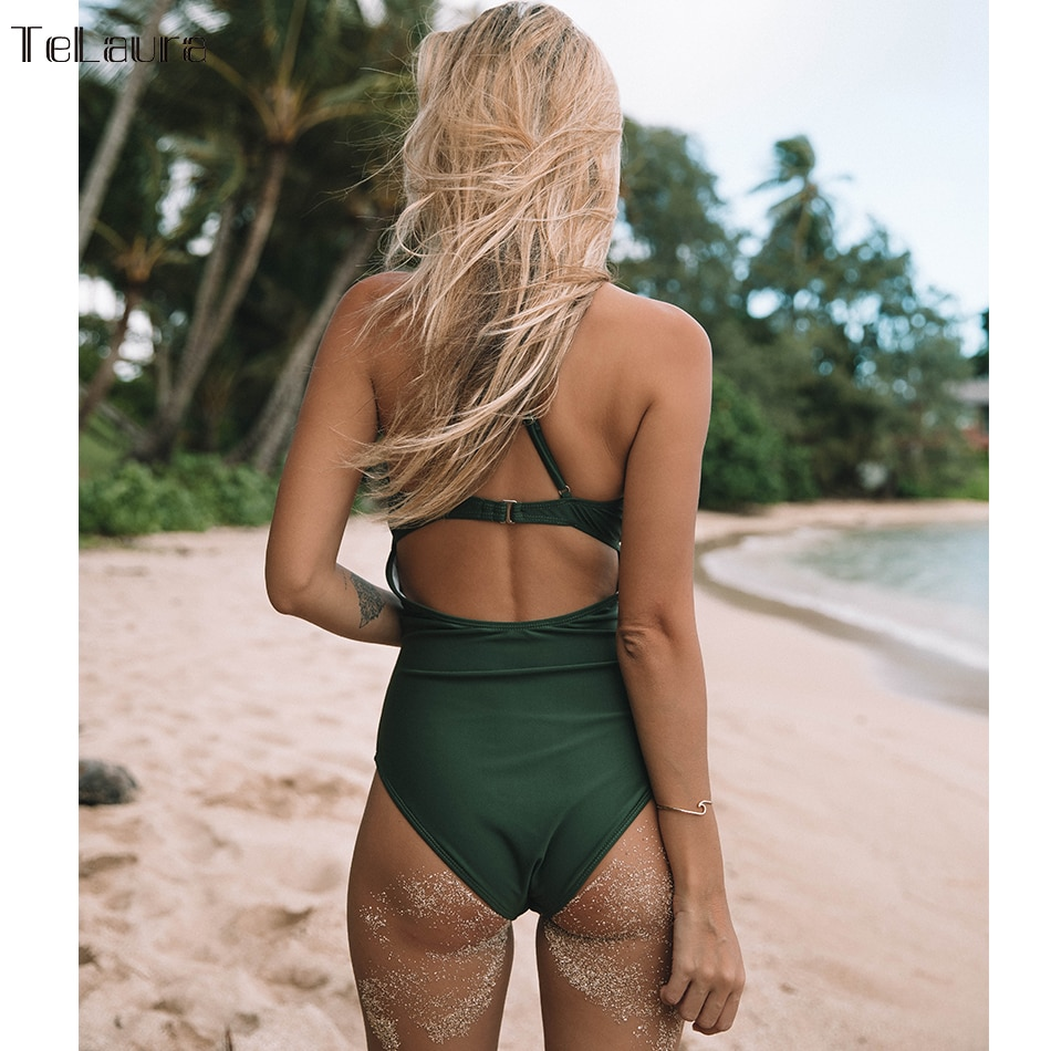 2019 Sexy Lace One Piece Swimsuit, Women's Monokini Bandage Bodysuit Beach Wear Bathing Suit 5