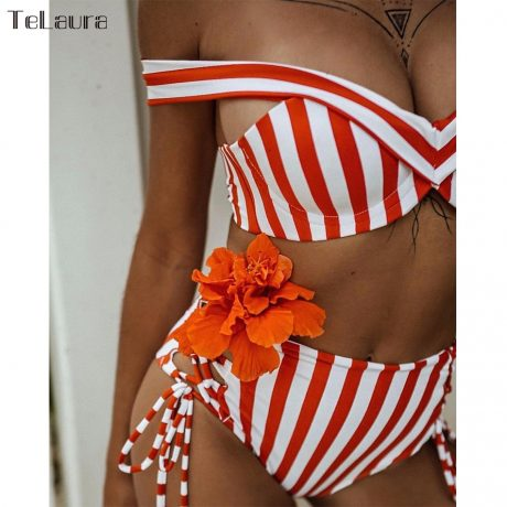 Sexy High Waist Bikini, 2019 Women's Swimsuit, Bandeau Bikinis Set, Biquini Swimming Suit 1
