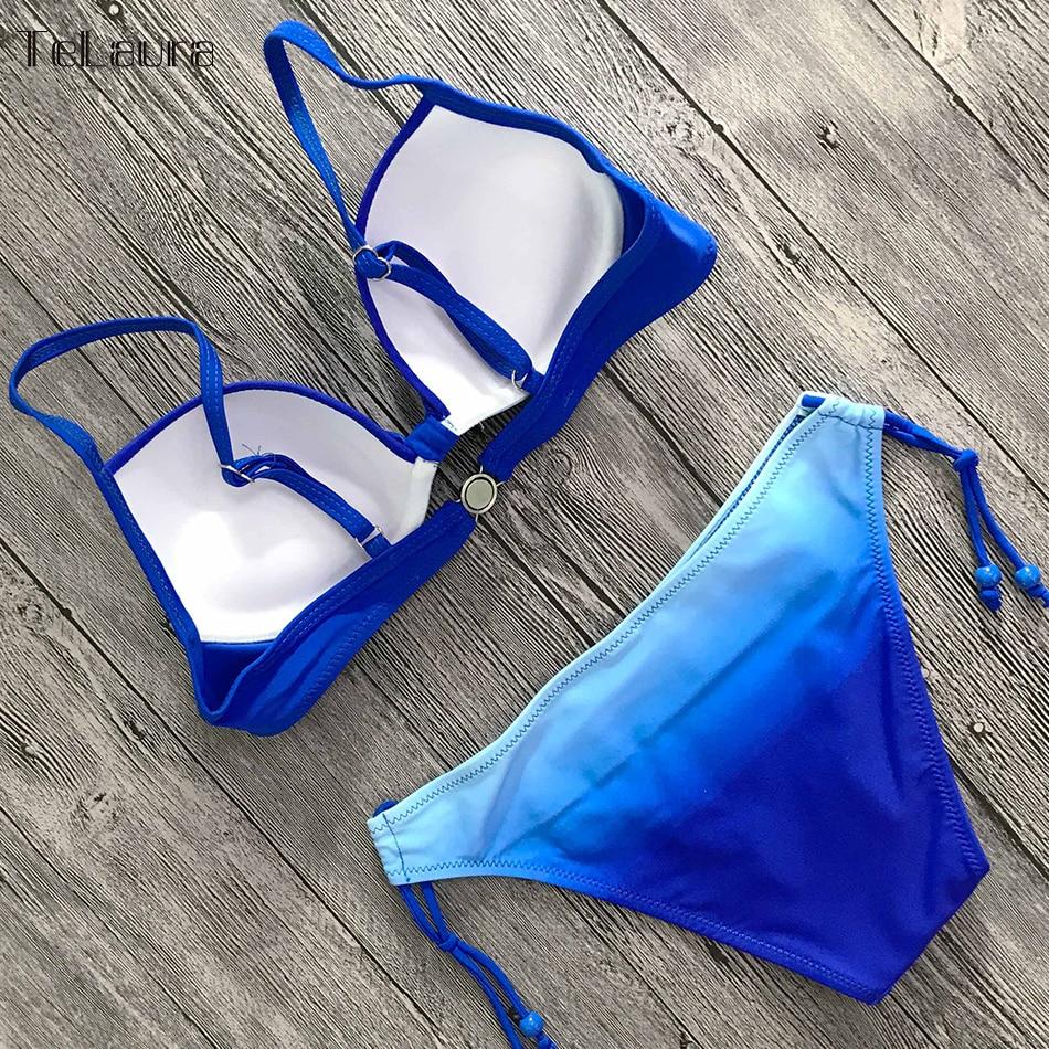 2019 Sexy Bikini Swimwear, Women's Swimsuit Push Up, Gradient Bikinis, Biquini Swimsuit 12