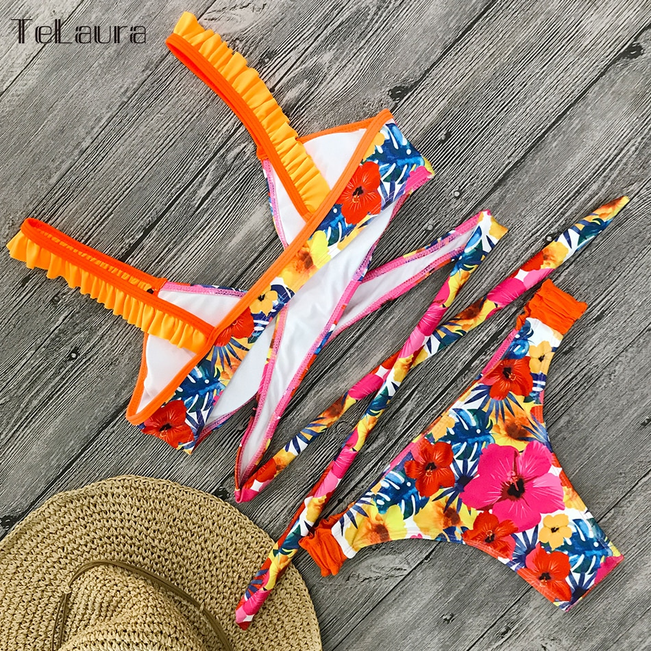 2019 New Sexy Bikini Swimwear, Women's Floral Brazilian Bikini, Biquinis Summer Beach Wear 21