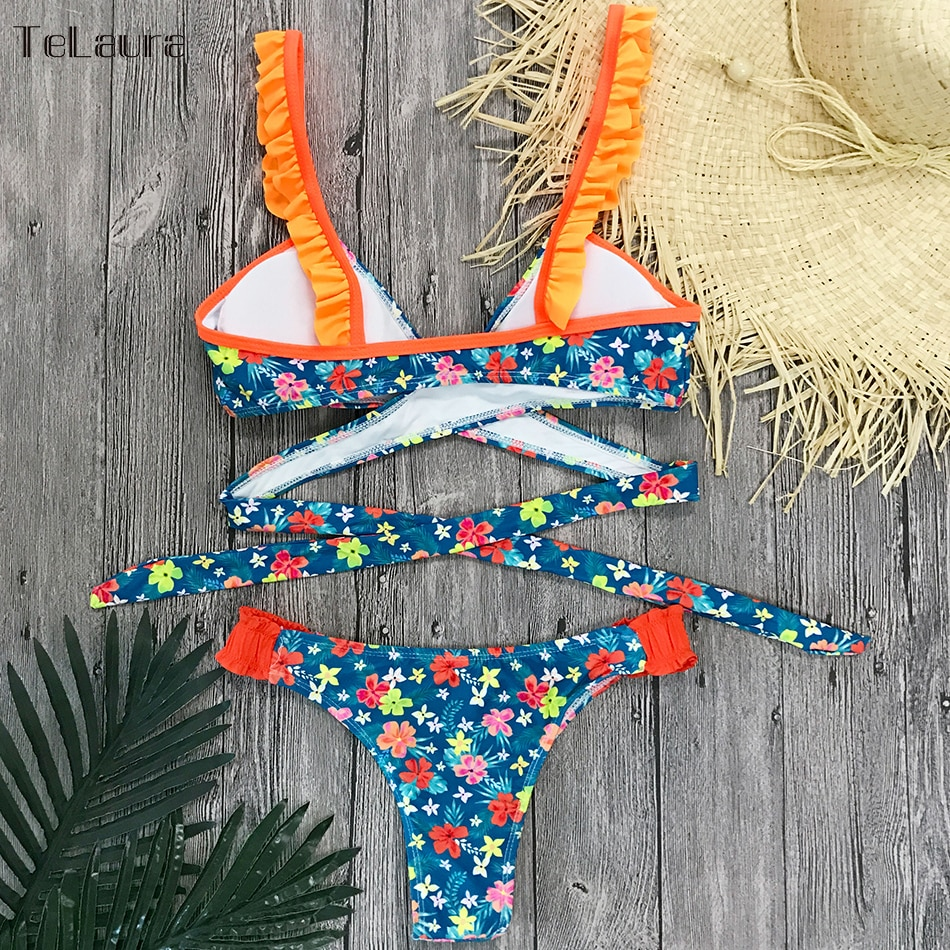 2019 New Sexy Bikini Swimwear, Women's Floral Brazilian Bikini, Biquinis Summer Beach Wear 15