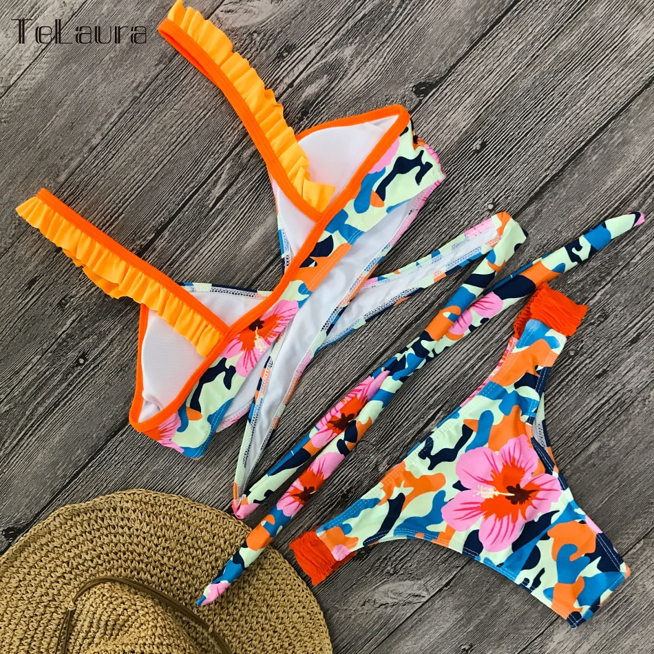 2019 New Sexy Bikini Swimwear, Women's Floral Brazilian Bikini, Biquinis Summer Beach Wear 18