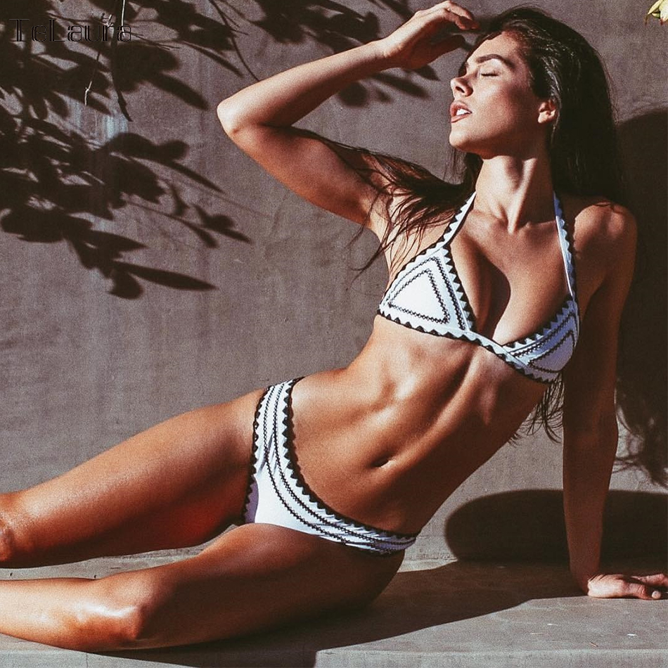 Sexy Bikinis, Women's Swimwear Push Up Swimsuit, Halter Top, Biquini Padded Bathing Suit, Brazilian Bikini Set 7