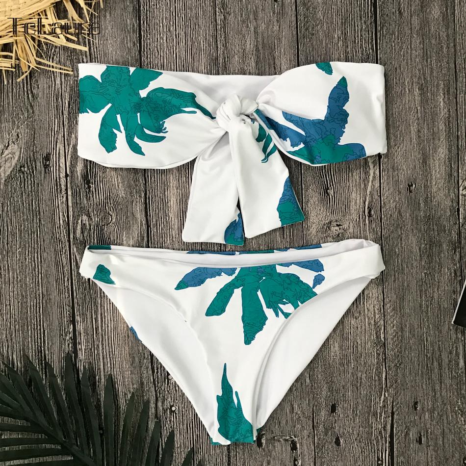 Sexy High Waist Bikini, Women's Swimsuit Bandeau Bikinis Set, Biquini Beachwear 14