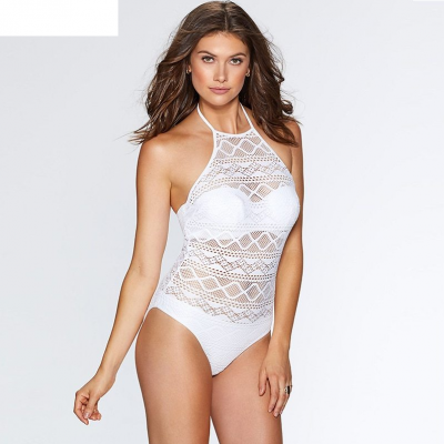 2019 One Piece Swimsuit, Lace Women's Push Up Bathing Suit, Vintage Monokini Bodysuit