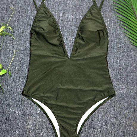 Women's Swimwear, 2019, Sexy One Piece Swimsuit,  High Cut Monokini, Deep V Swim Suit, Retro Bodysuit Bathing Suit 3